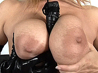 Exciting incredible monster breas milf.